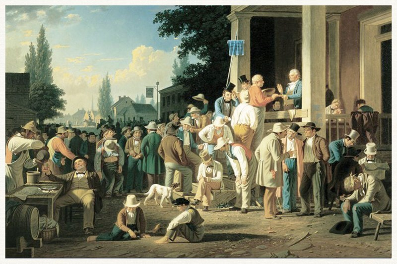 The County Election karya George Caleb Bingham