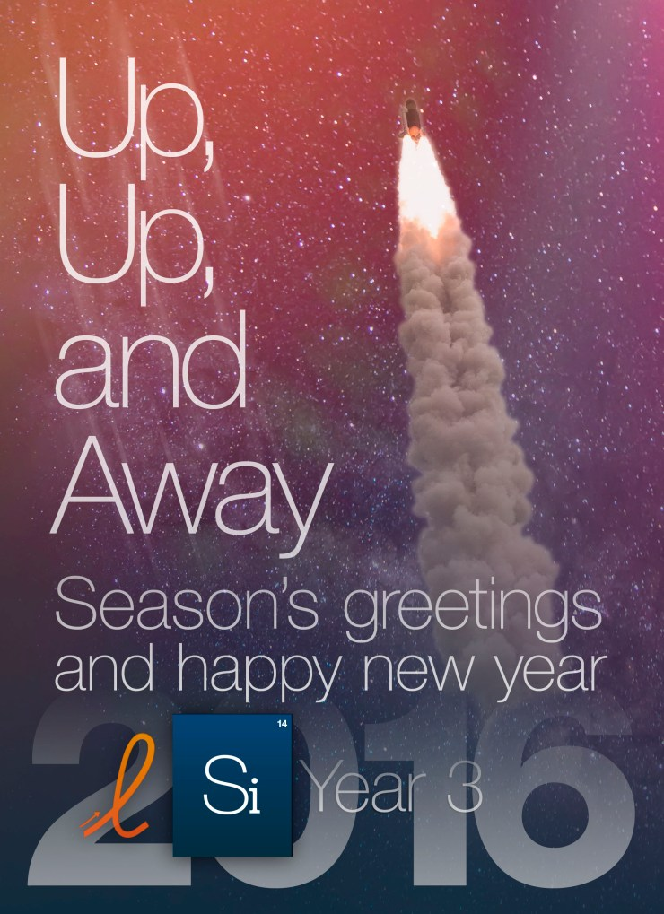 Up, up, and away: Season's greetings and happy new year 2016
