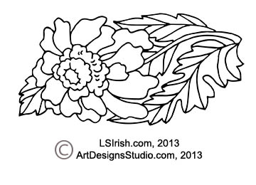 free Lora Irish pyrography pattern