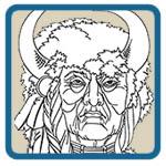 American Indian Chief Line Art Patterns by Lora S Irish