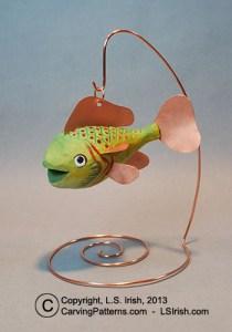 Whittled fish decoy by Lora S Irish