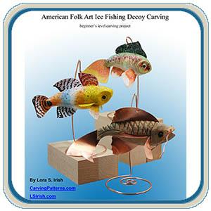 Folk art fish decoy carving instructions by Lora S Irish