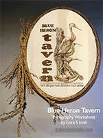 Blue Heron Tavern Pyrography