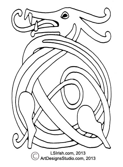 Prime Wood Carving A Celtic Dragon Knot Pattern By Lora S Irish Bralicious Painted Fabric Chair Ideas Braliciousco