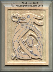 rough out cuttingthe background of a relief wood carving