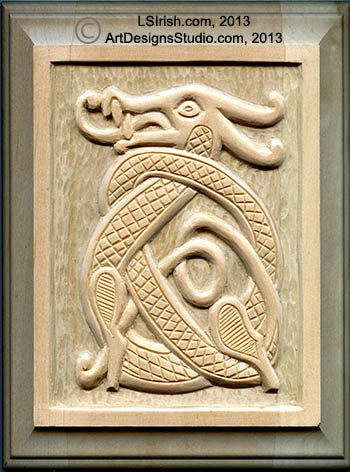 Brilliant Wood Carving A Celtic Dragon Knot Pattern By Lora S Irish Bralicious Painted Fabric Chair Ideas Braliciousco