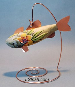 relief carved fish decoy