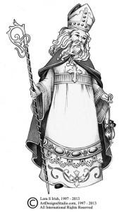 Saint Nicholas drawing