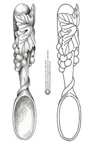 free Welsh Love Spoon pattern