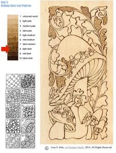Pyrograohy Doodles Mushroom Project by Irish