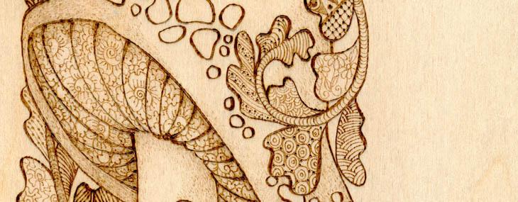Pyrography Doodles by Lora Irish