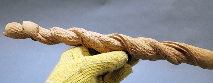 Twistie Stick Snake Carving by Lora Irish