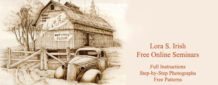 Lora Irish Free Online Wood Carving and Wood Burning Seminars