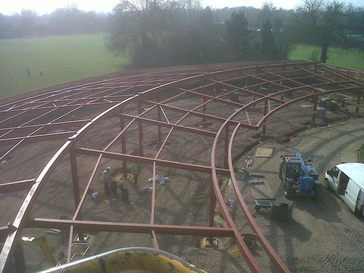 structrual steel structure at Capel Manor School
