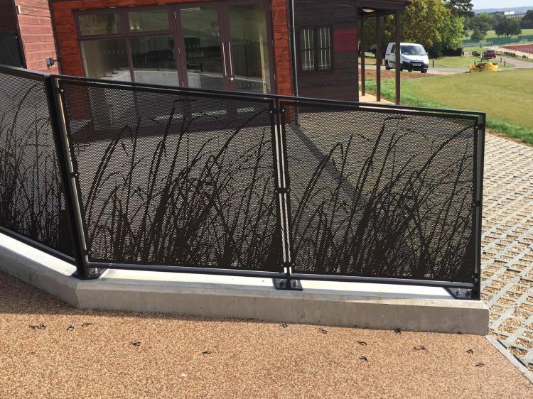 perforated railing panel Harrow School