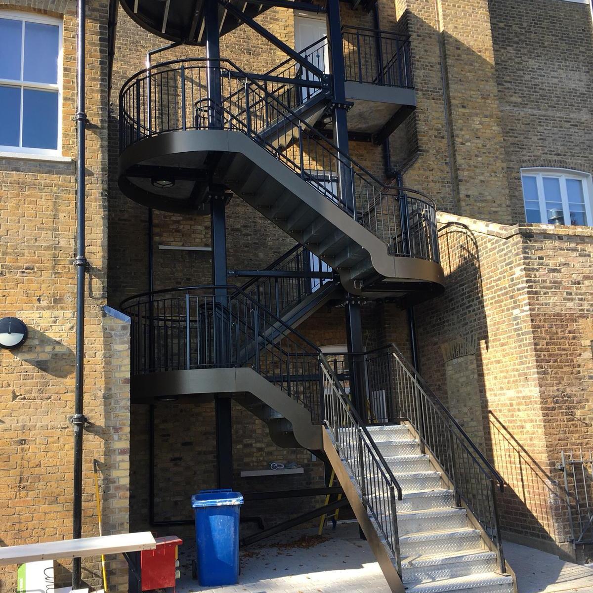 external fire escape Woodside London