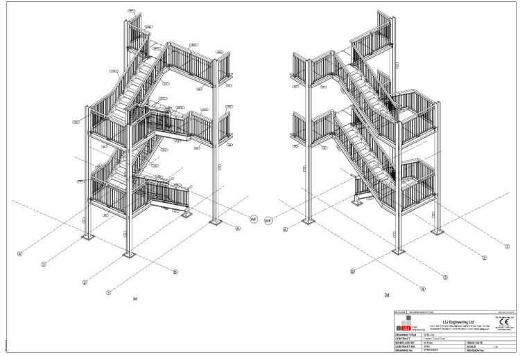 PDF Model of steel staircases at Linden Court Southend-on-Sea