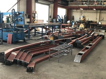 manufacture of secondary structural steelwork in Shoeburness, Essex, by LSJ Engineering