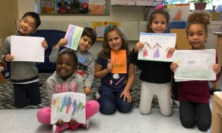 Kindergarten writing group pic