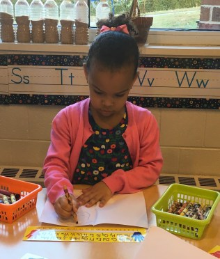 Preschool 4 Paloma writing