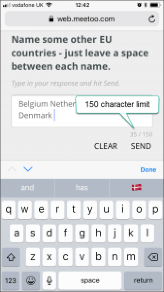 Meetoo text question