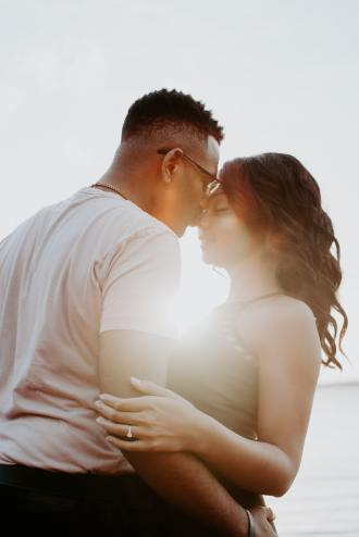 Image of a happy looking couple in a relationship showing what is possible for you, even if you have LS
