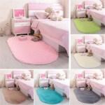 Details About Carpet Oval Plush Fluffy Area Rug Bedroom Living Room Floor Mat Solid Anti Skid