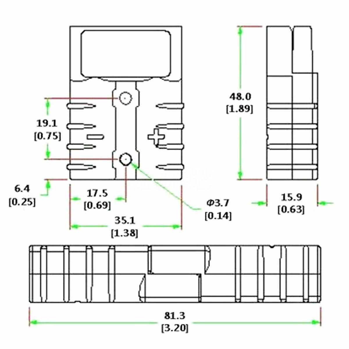 5x 600v 50a 50amp Grey Plug Connector Carvan Charger
