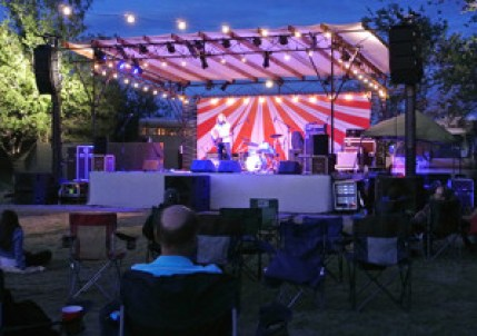The festival stage was just the right size, and even when the festival was at capacity, festival-goers were still able to wind down comfortably with lawn chairs.
