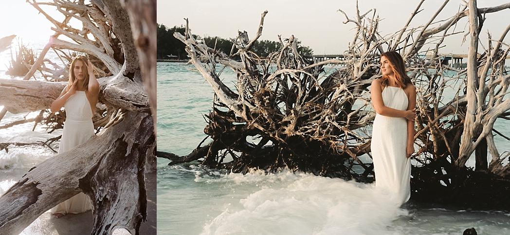 Portra 160 Florida Film Takeover Driftwood Beach Longboat Key Portrait Photography