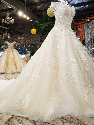 Off shoulder A-line Wedding Dress 2018
