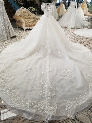 Illusion Ball Gown Wedding Dress 2018