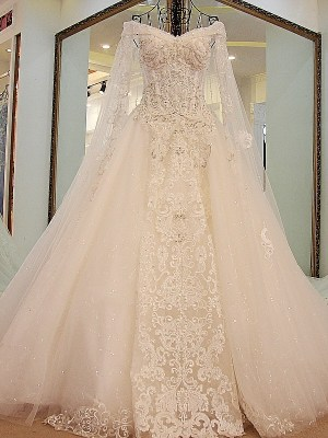 Off the shoulder Ball Gown Wedding Dress 2018