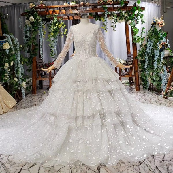 long wedding dress for wedding party