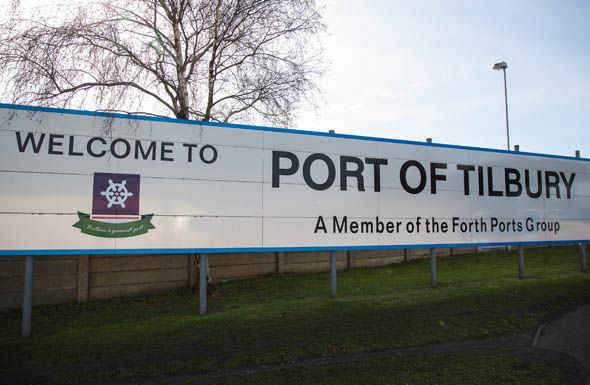 Port of Tilbury sign