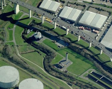 Dartford Tunnel ventilation shafts (c) Bing Maps