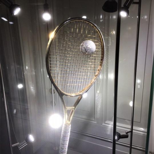 Golden Racket: pronkstuk in het Diamant Museum