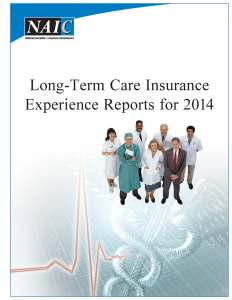 NAIC - Long Term Care Insurance Experience Reports for 2014 - Oct 2015