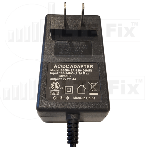 12V 4.0A 48W Power Adapter (2.1mm Tip)