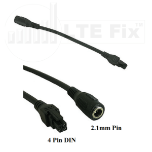2.1mm to 4-Pin DIN Power Cable Adapter