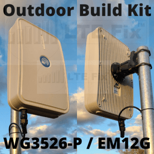 Router Build Kit - WG3526-P with Quectel EM12G Modem and 2x2 MIMO Outdoor Antenna and Enclosure