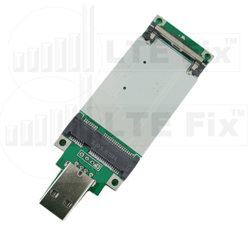 USB to Mini PCI-E Adapter with Bottom Side SIM Card Slot