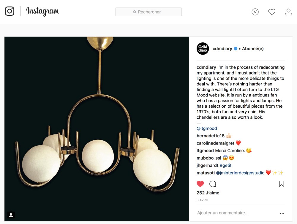 cdmdiary, caroline de maigres parle des luminaires vintage de chez ltgmood.com