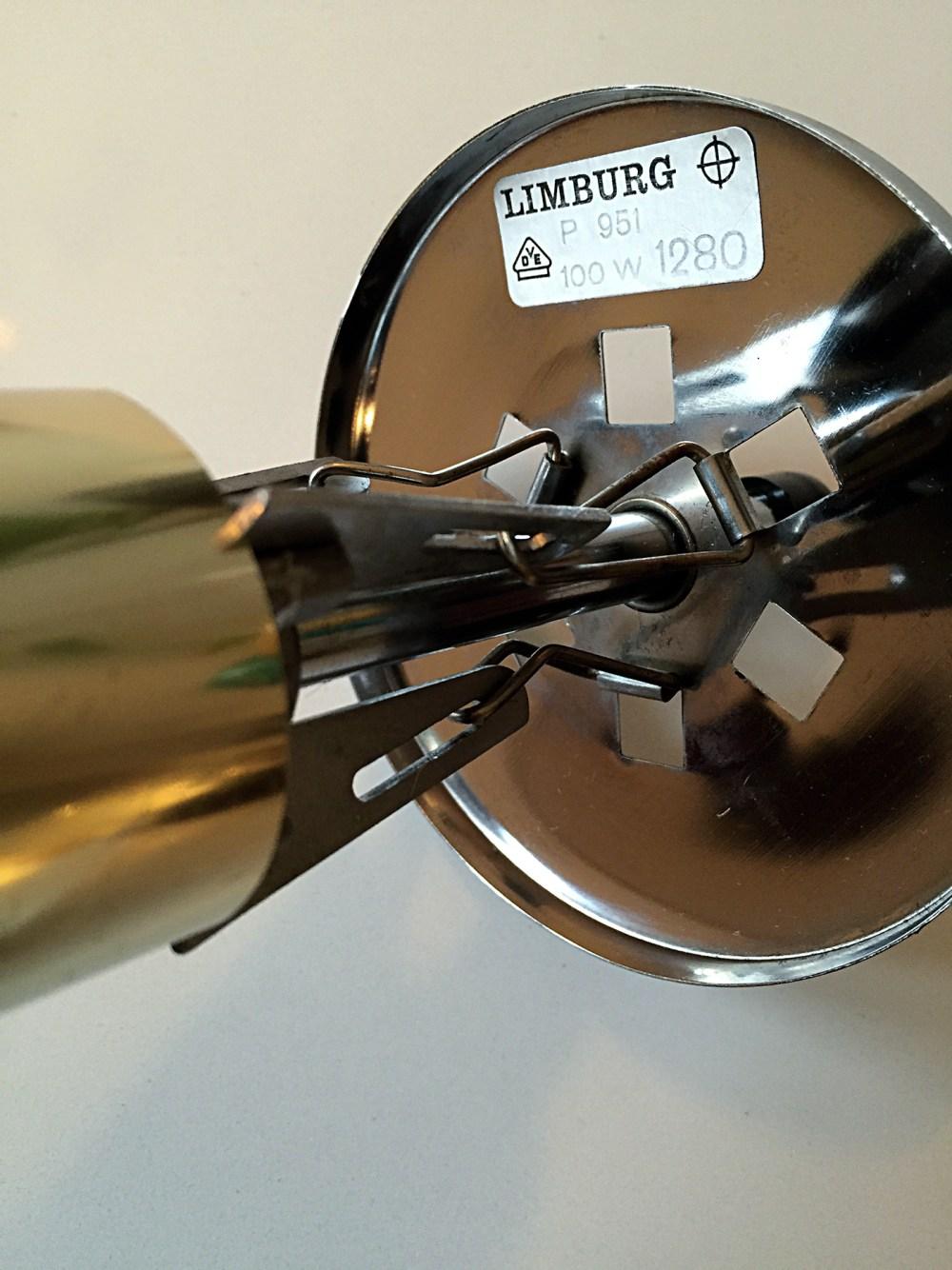 Suspension vintage en verre Bulle et laiton par Helena Tynell pour Limburg en 1960. En vente chez ltgmood.com