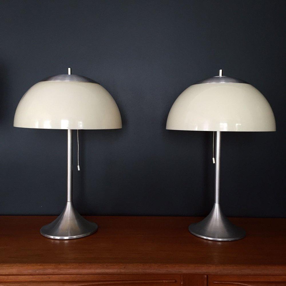 lampe champignon vintage 1970 Unilux en pvc et inox en vente en ligne chez ltgmood.com