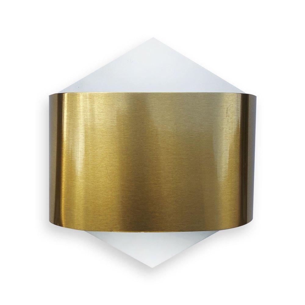 applique Staff Germany vintage metal plié or et blanc en vente chez ltgmood.com luminaires vintage