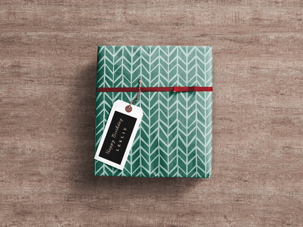 Download Gift Wrap Free Box PSD Mockup - LTHEME
