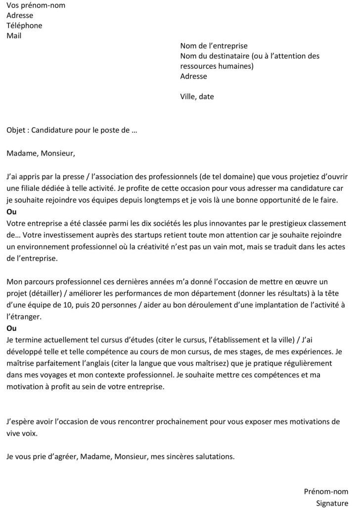 Lettre De Motivation Pour Entreprise En Alternance ...