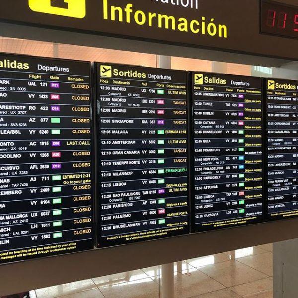 ああもう帰国の途・バルセロナから香港へ