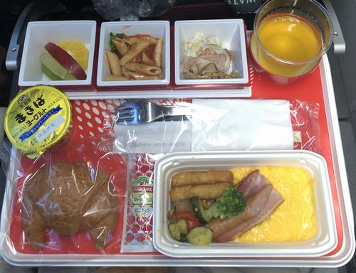 JAL羽田発シンガポール行き 機内食